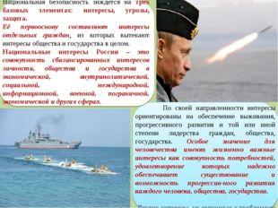 Национальная безопасность зиждется на трех базовых элементах: интересы, угроз