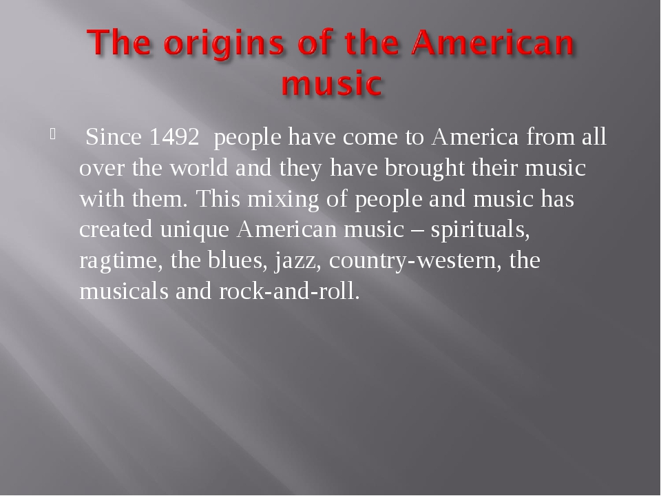Since 1492 people have come to America from all over the world and they have...