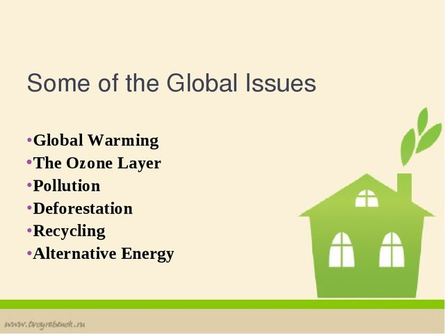 Some of the Global Issues Global Warming The Ozone Layer Pollution Deforestat...