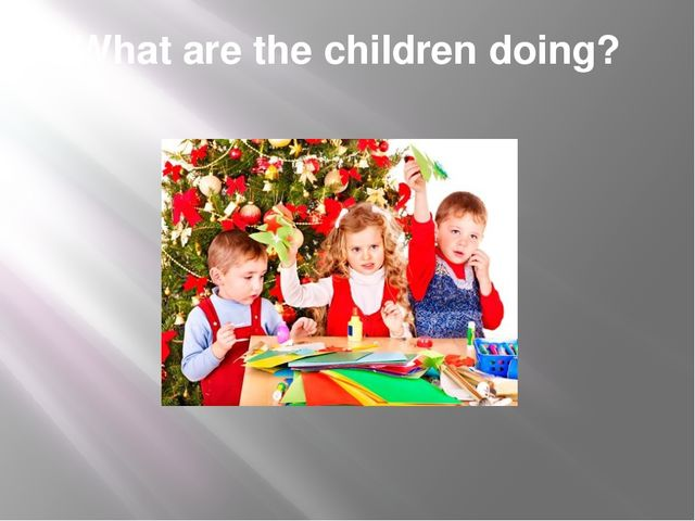 What are the children doing?