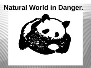 Natural World in Danger.