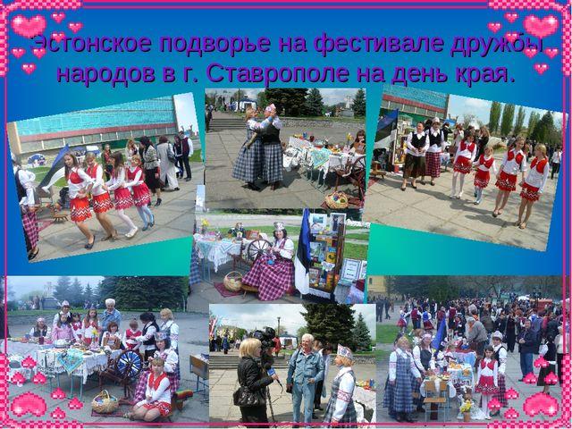 Эстонское подворье на фестивале дружбы народов в г. Ставрополе на день края.
