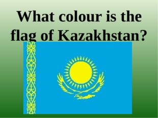 What colour is the flag of Kazakhstan?