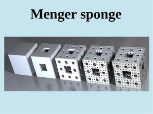 Menger sponge