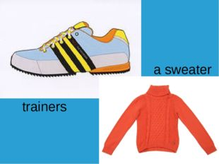 a sweater trainers