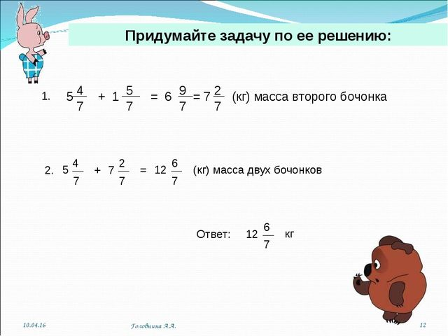 Придумайте задачу по ее решению: 1. * * Головнина А.А. Головнина А.А.