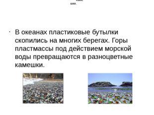 В океанах пластиковые бутылки скопились на многих берегах. Горы пластмассы п
