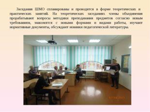 Заседания ШМО спланированы и проводятся в форме теоретических и практических