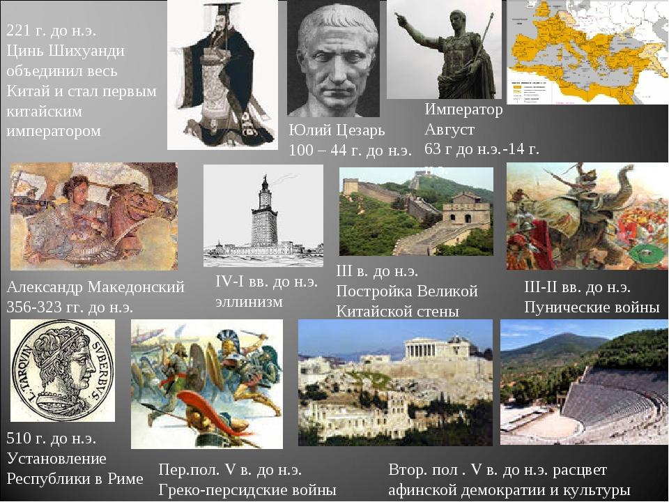 510 г. до н.э. Установление Республики в Риме Пер.пол. V в. до н.э. Греко-пер...