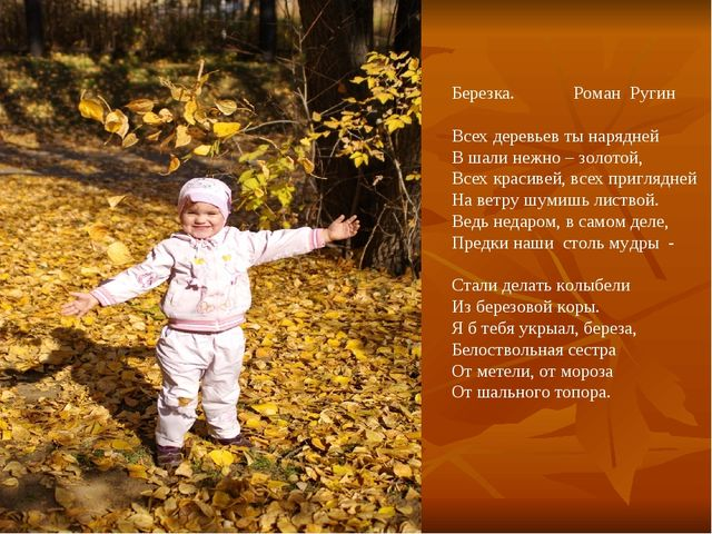 Березка. Роман Ругин Всех деревьев ты нарядней В шали нежно – золотой, Всех к...