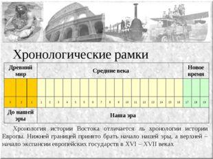 Хронологические рамки Хронология истории Востока отличается ль хронологии ис