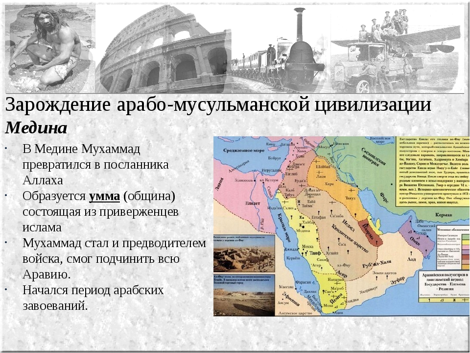 Зарождение арабо-мусульманской цивилизации Медина В Медине Мухаммад преврати...