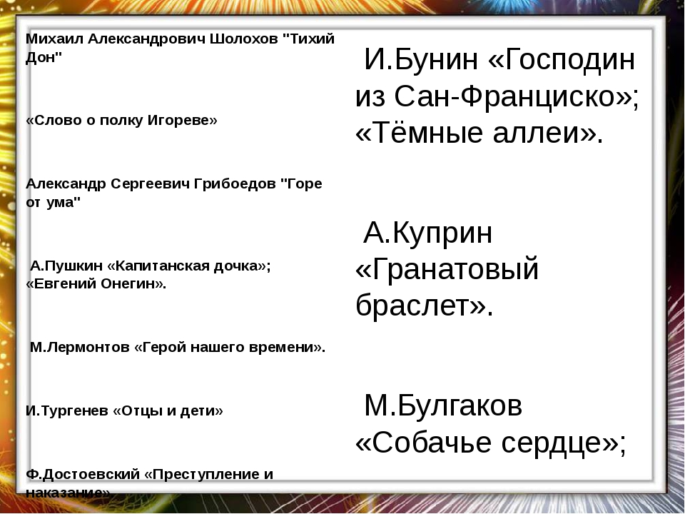 "Михаил Александрович Шолохов ""Тихий Дон""  «Слово о полку Игореве»  Александ..."