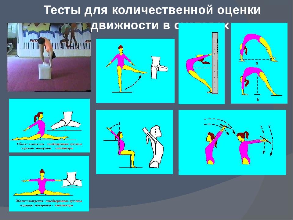 Тесты для количественной оценки подвижности в суставах