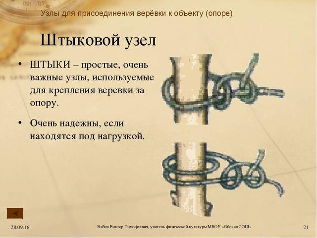 Штыковой узел ШТЫКИ – простые, очень важные узлы, используемые для крепления...
