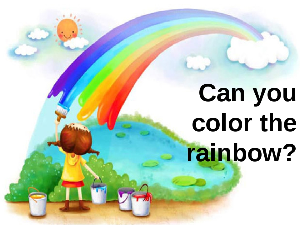 Can you color the rainbow?