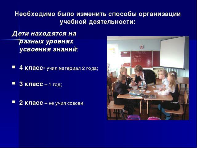 Необходимо было изменить способы организации учебной деятельности: Дети наход...
