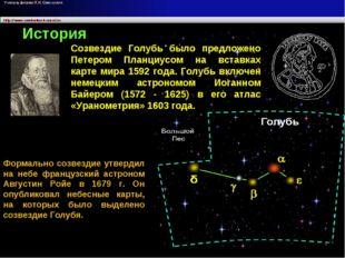 Формально созвездие утвердил на небе французский астроном Августин Ройе в 167