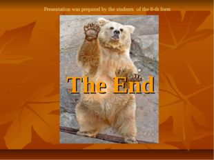 The End Presentation was prepared by the students of the 8-th form