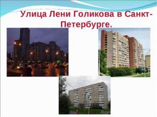 Улица Лени Голикова в Санкт- Петербурге.