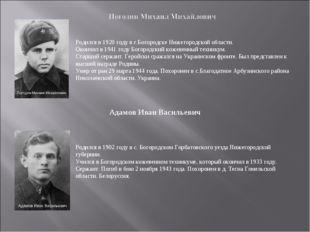Родился в 1920 году в г.Богородске Нижегородской области. Окончил в 1941 году