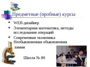 Предметные (пробные) курсы WEB-дизайнер Элементарная математика, методы иссле