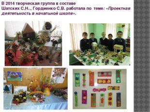 В 2014 творческая группа в составе Шатских С.Н.., Гордиенко С.В. работала по