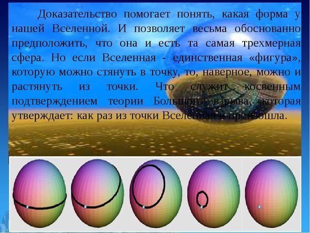 Доказательство помогает понять, какая форма у нашей Вселенной. И позволяет в...