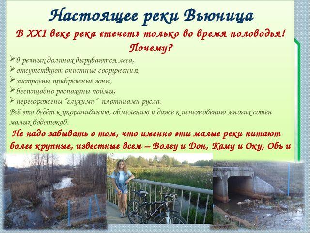 Настоящее реки Вьюница В XXI веке река «течет» только во время половодья! Поч...