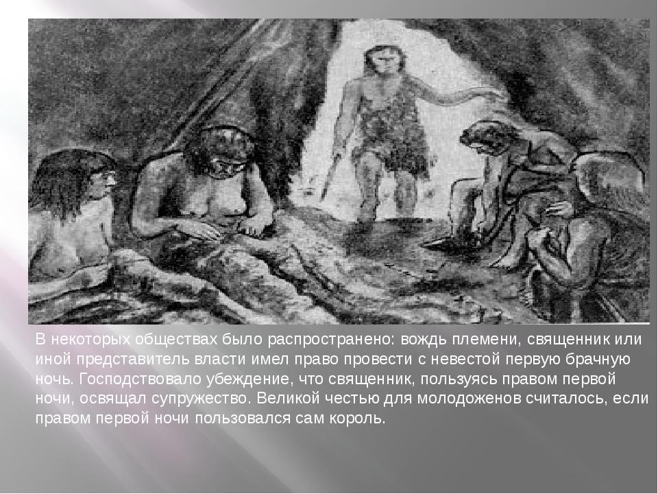 В некоторых обществах было распространено: вождь племени, священник или иной...