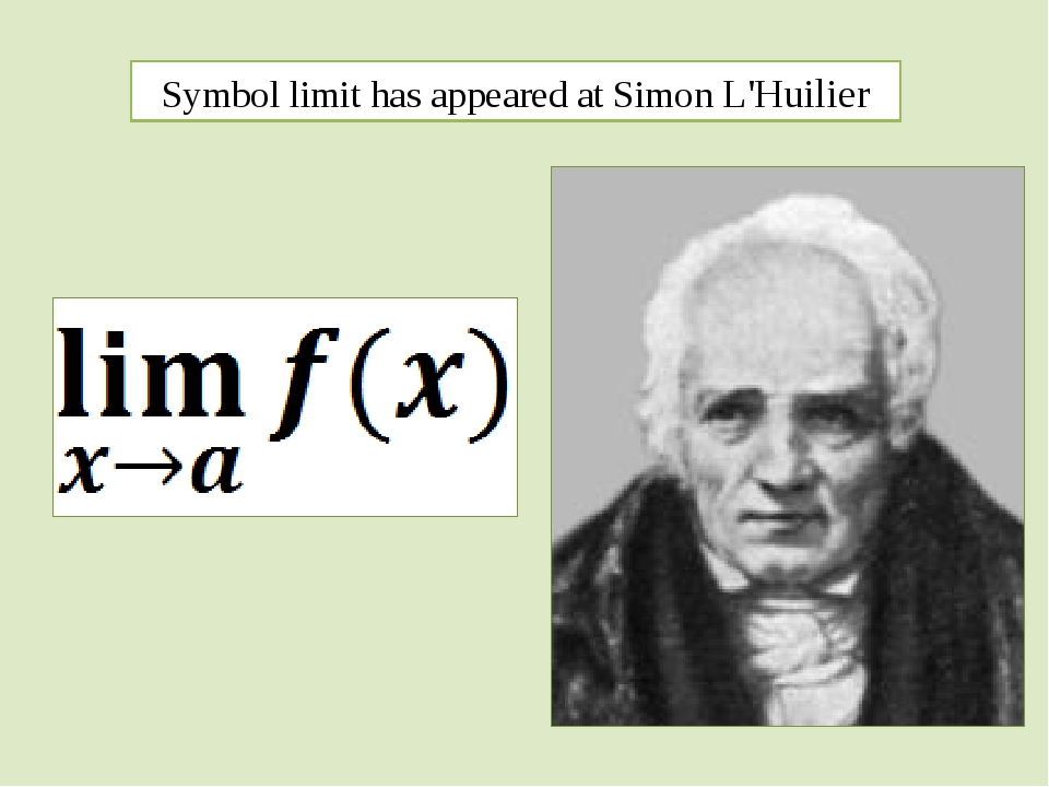 Symbol limit has appeared at Simon L'Huilier