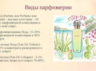 Виды парфюмерии Духи (Parfum или Perfume или Extrait) - высшая категория - 20