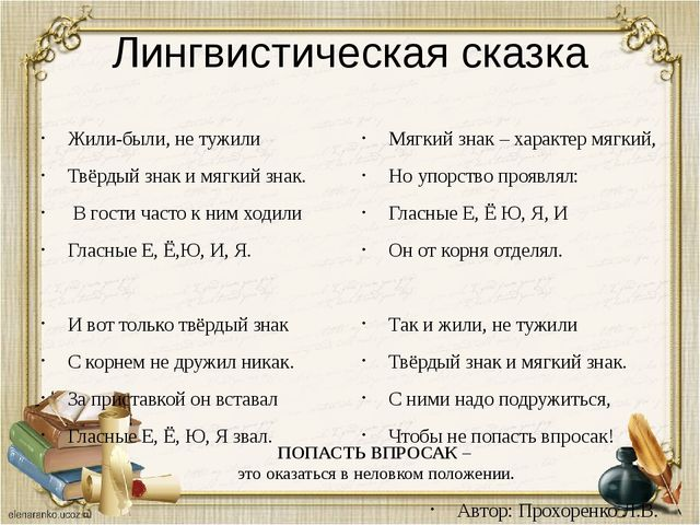 Лингвистическая сказка Жили-были, не тужили Твёрдый знак и мягкий знак. В гос...