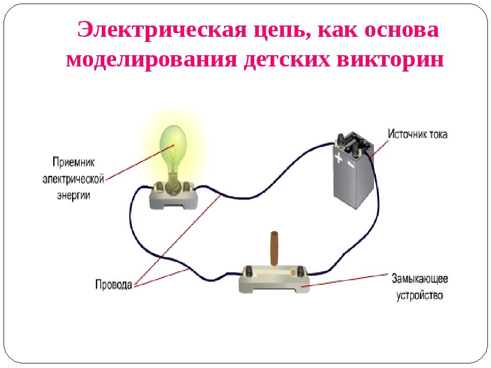 Электрическая цепь, как основа моделирования детских викторин