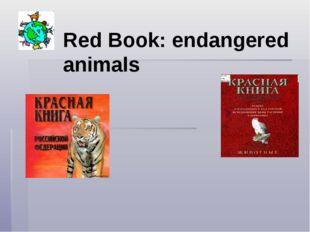 Red Book: endangered animals
