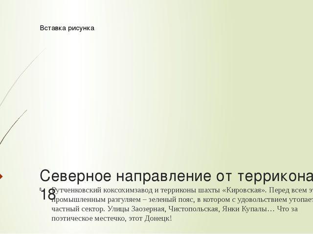 Северное направление от террикона № 18 Рутченковский коксохимзавод и террикон...