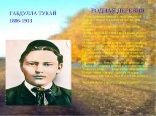 ГАБДУЛЛА ТУКАЙ 1886-1913 РОДНАЯ ДЕРЕВНЯ . Стоит деревня наша на горке некруто