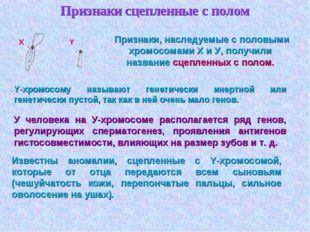 Признаки сцепленные с полом  Признаки, наследуемые с половыми хромосомами X