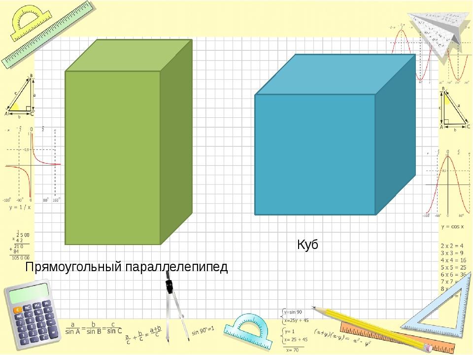 Прямоугольный параллелепипед Куб