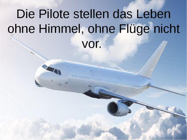 Die Pilote stellen das Leben ohne Himmel, ohne Flüge nicht vor.