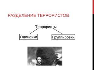 РАЗДЕЛЕНИЕ ТЕРРОРИСТОВ