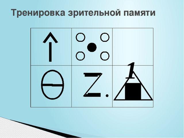 Тренировка зрительной памяти 1