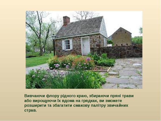 Вивчаючи флору рідного краю, збираючи пряні трави або вирощуючи їх вдома на г...