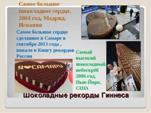 Шоколадные рекорды Гиннеса Самое большое шоколадное сердце, 2004 год, Мадрид,