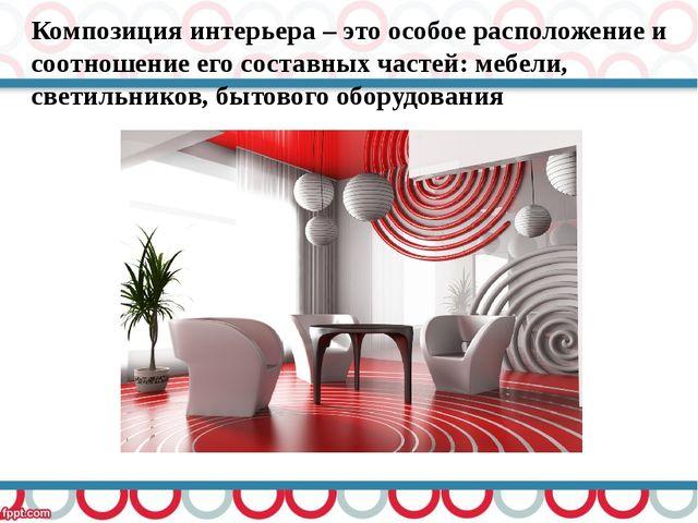 Композиция интерьера – это особое расположение и соотношение его составных ча...