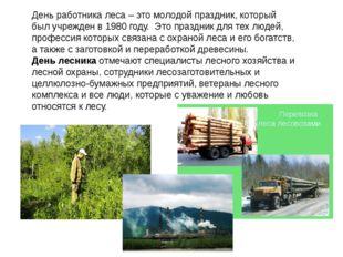 День работника леса – это молодой праздник, который был учрежден в 1980 году.