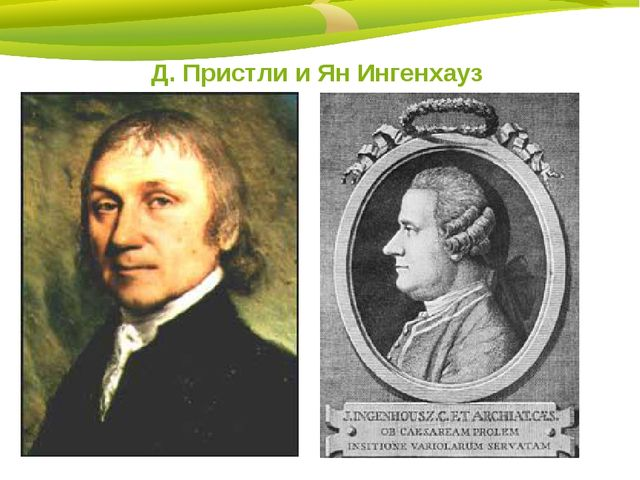 Д. Пристли и Ян Ингенхауз