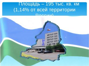 Площадь – 195 тыс. кв. км (1,14% от всей территории России)