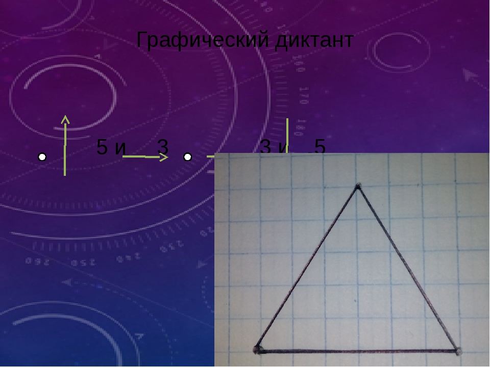 Графический диктант 5 и 3 3 и 5