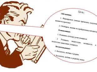 Цель: Обучающие: 1. Формировать умения применять полученные знания на практи